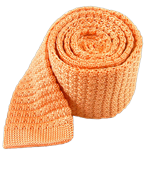 Ties - Textured Solid Knit - Peach