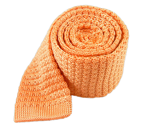 Peach Textured Solid Knit ties
