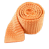 Peach Textured Solid Knit Tie