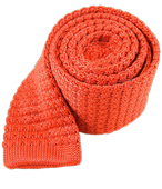 Ties - Textured Solid Knit - Persimmon