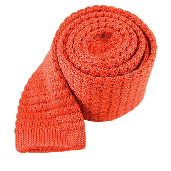 Persimmon Textured Solid Knit Tie