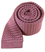 Ties - Textured Solid Knit - Dusty Rose