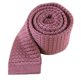Dusty Rose Textured Solid Knit ties