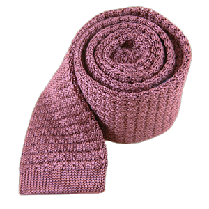 textured solid knit dusty rose ties