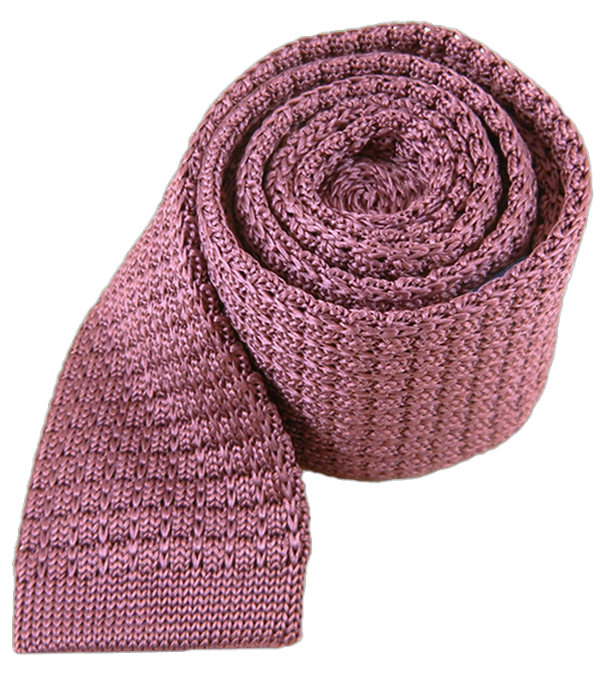 Textured Solid Knit Dusty Rose Tie