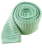 Ties - Textured Solid Knit - Mint