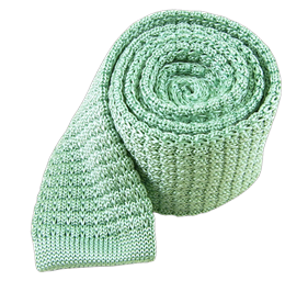 Textured Solid Knit Mint Ties