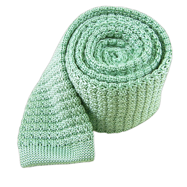 Mint Textured Solid Knit Tie
