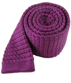 Ties - Textured Solid Knit - Plum
