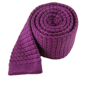 Plum Textured Solid Knit ties
