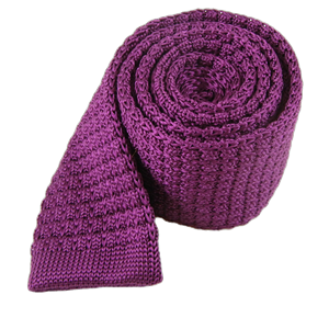 textured solid knit plum ties