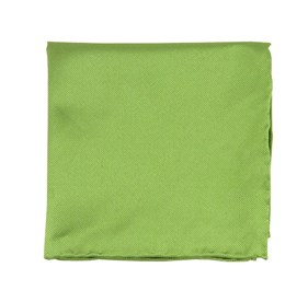 Apple Green Solid Twill pocket square