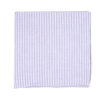 Soft Lavender Seersucker Pocket Square