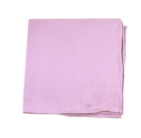 Solid Linen Baby Pink pocket square