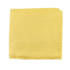 solid linen butter gold pocket square