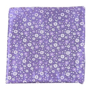 milligan flowers lavender pocket square