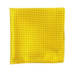 Yellow Mini Dots pocket square