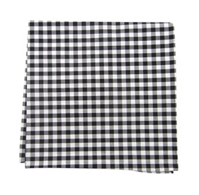 New Gingham Black pocket square