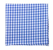 POCKET SQUARES - NEW GINGHAM - SERENE BLUE