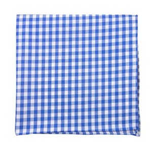 new gingham serene blue pocket square