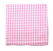 POCKET SQUARES - NEW GINGHAM - PINK