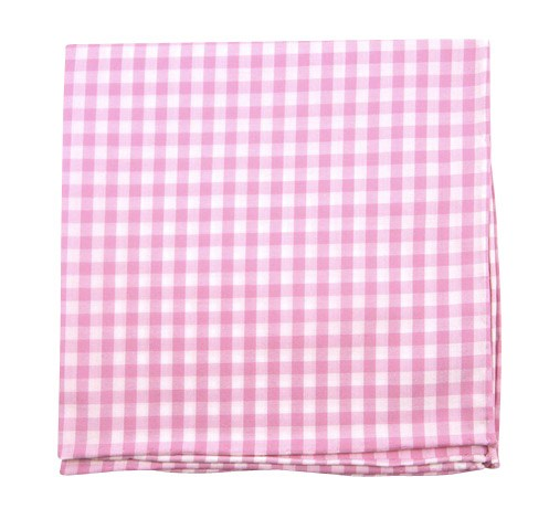 Pink New Gingham Pocket Square