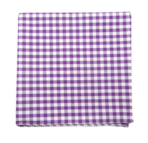 Plum New Gingham Pocket Square