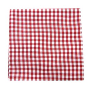 new gingham red pocket square