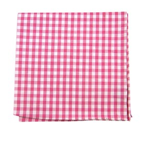 Hot Pink New Gingham pocket square