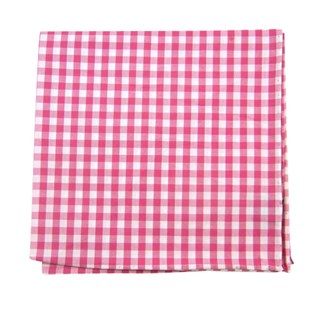 New Gingham Hot Pink Pocket Square