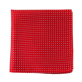 pindot red pocket square