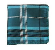Pocket Squares - GENT PLAID - TEAL