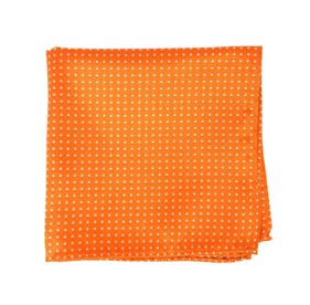 Tangerine Pindot pocket square