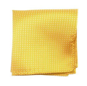 Yellow Gold Pindot pocket square