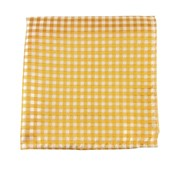 Pocket Squares - CHECKED OUT - YELLOW GOLD