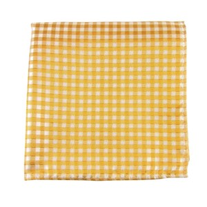 checked out yellow gold pocket square