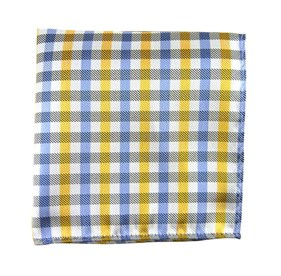 Yellow Prepster Plaid pocket square