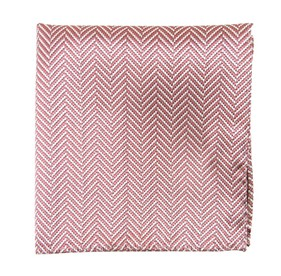 Dusty Rose Native Herringbone pocket square