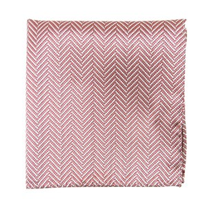 native herringbone dusty rose pocket square