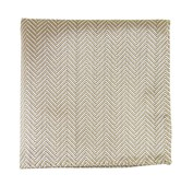 Pocket Squares - NATIVE HERRINGBONE - LIGHT CHAMPAGNE