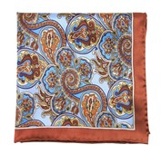 Pocket Squares - BOLSTERED PAISLEY - LATTE