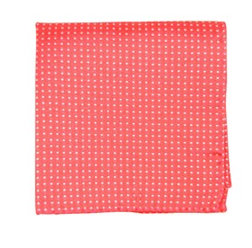 Coral Pindot pocket square