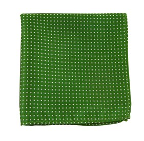 Kelly Green Pindot pocket square