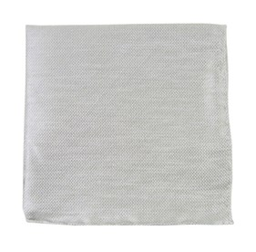 Silver Solid Linen pocket square