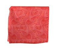 Pocket Squares - Twill Paisley - Coral