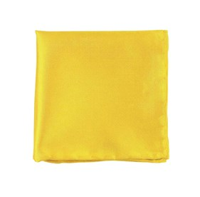 Yellow Gold Solid Twill pocket square